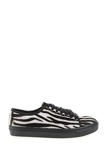 D by Divarese %100 Deri Sneaker Zebra